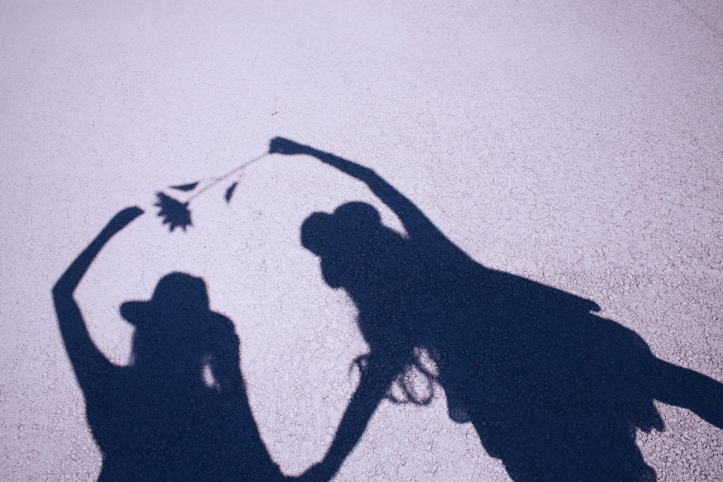 仲良しの影